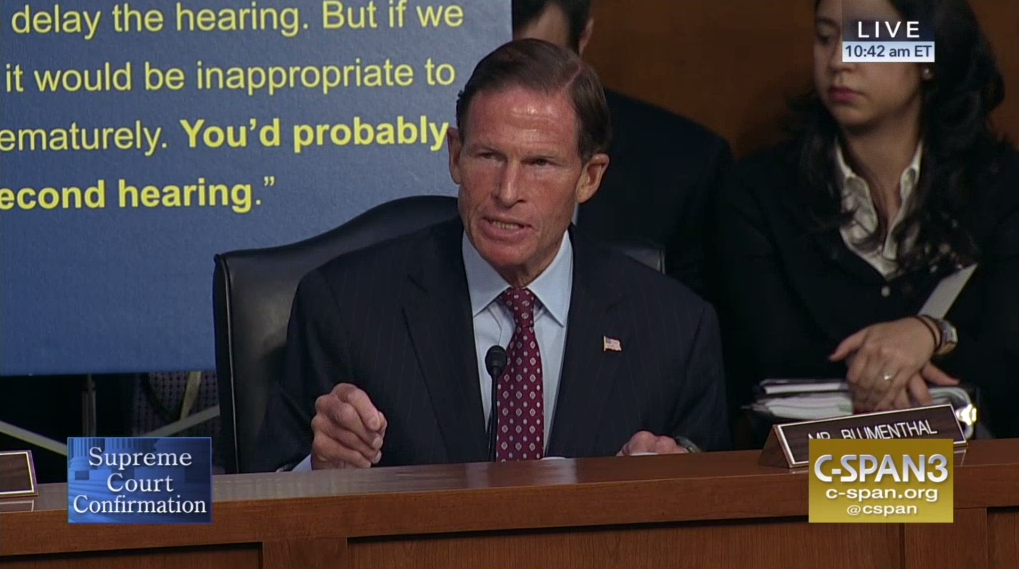 Blumenthal says he's ready to sue for Kavanaugh documents