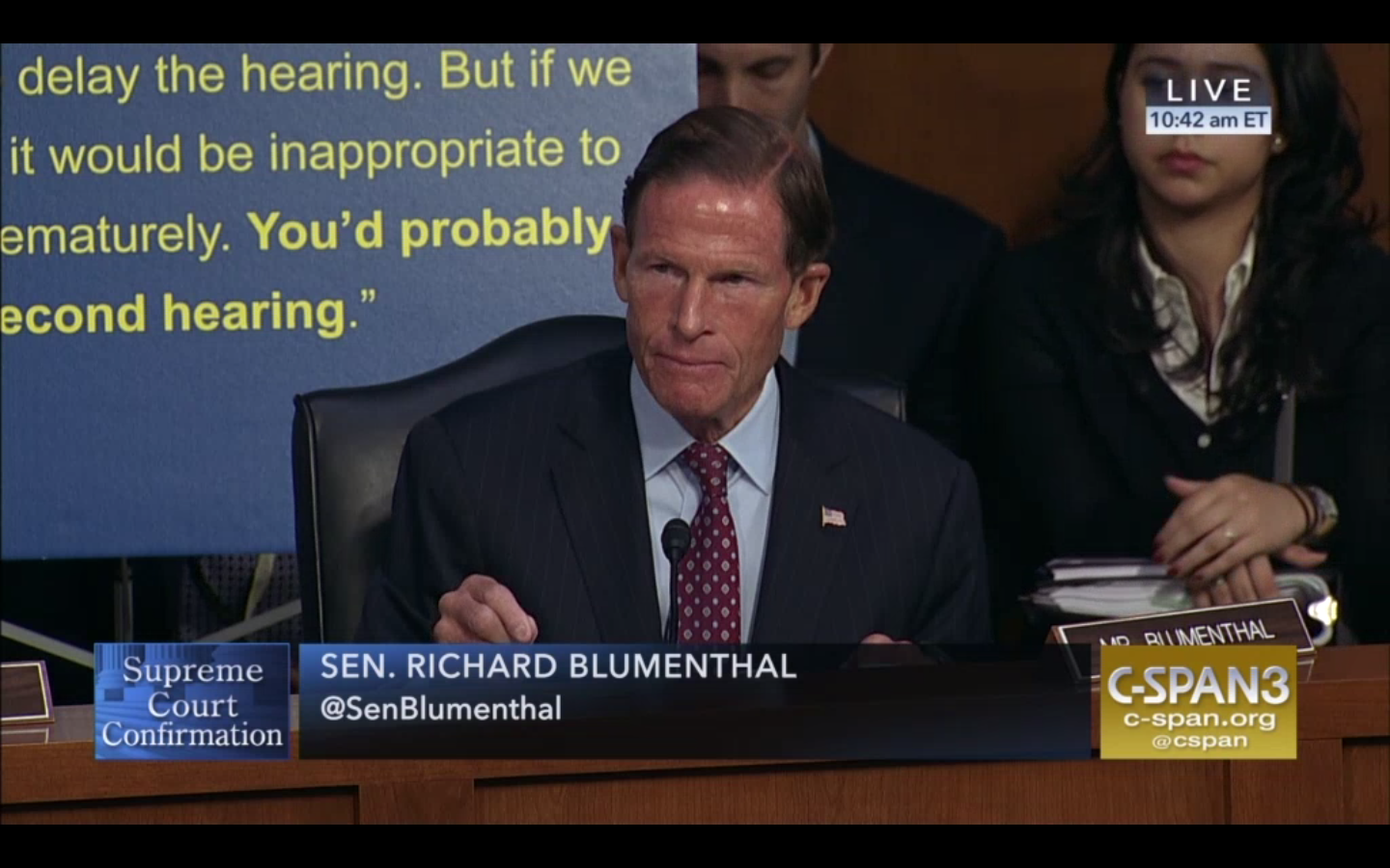 Blumenthal leads attempt to adjourn Kavanaugh SCOTUS confirmation hearing