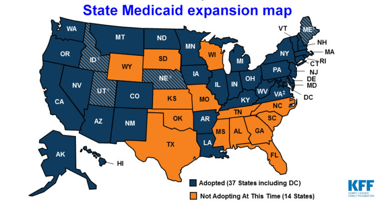 Medicaid Expansion States Map 2017.Midterm Election Boosts Medicaid Expansion But Challenges Remain
