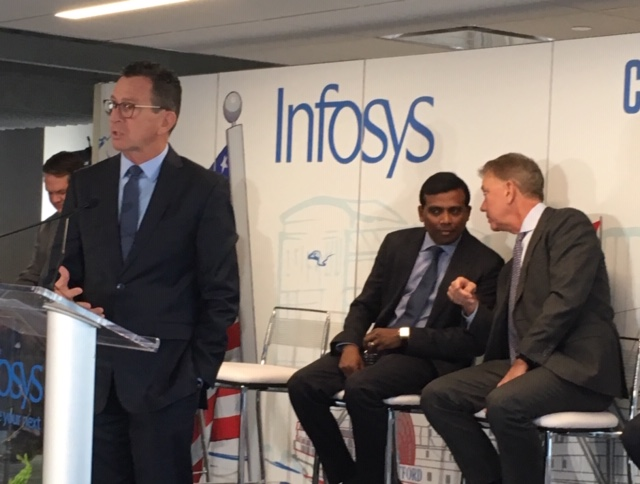Infosys opens in Hartford, crediting Malloy and Lamont