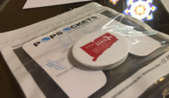 "Smart phone ""Pop Sockets"" give-aways to help spread the word about Getting to Zero CT."
