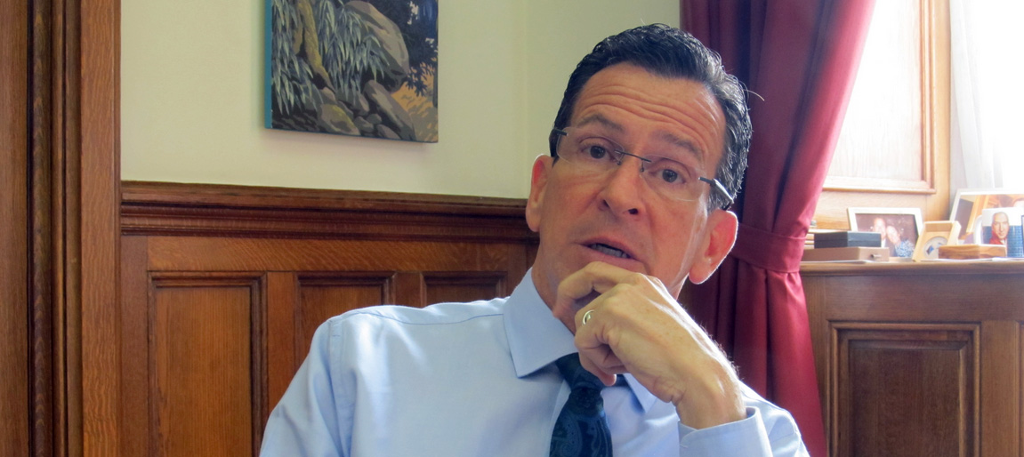 On his last day as governor, he is 'deeply optimistic' about Connecticut's future