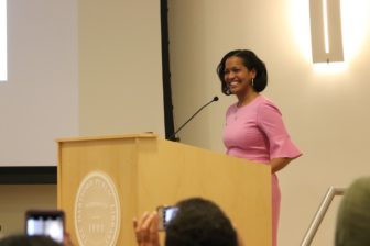 U.S. Rep. Jahana Hayes, a former national Teacher of the Year, spoke about the importance of education.