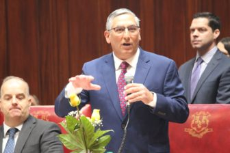Senate Minority Leader Len Fasano during the opening day of the legislative session.