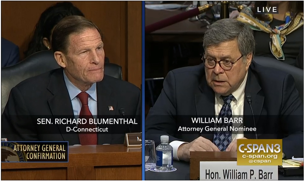 Blumenthal presses Barr on Trump investigation