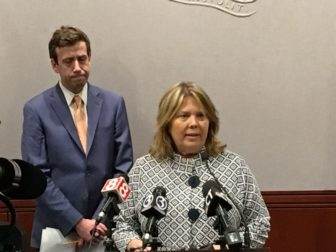 Mary Abrams, D-Meriden, with Sen. Matt Lesser, D-Middletown, introduced legislation Thursday that would ban the sale of flavored e-cigaretts.
