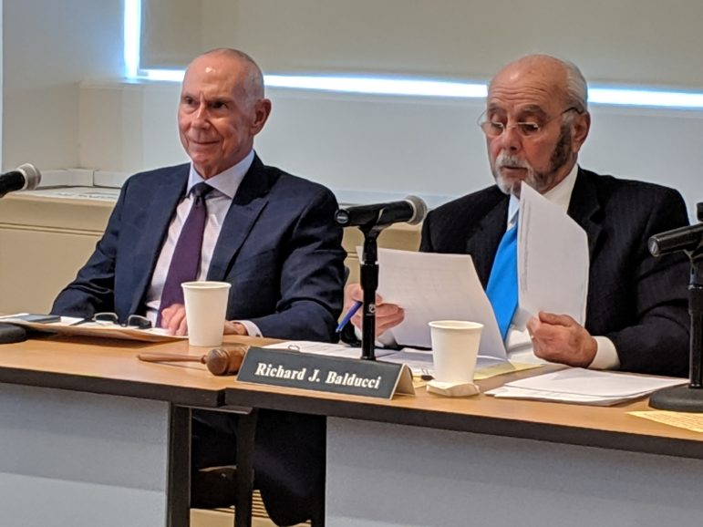 CSCU President, Mark Ojakian, and Richard J. Balducci, chairman of the finance committee for the Board of Regents for Higher Education, consider a 5 percent tuition increase for the state universities.