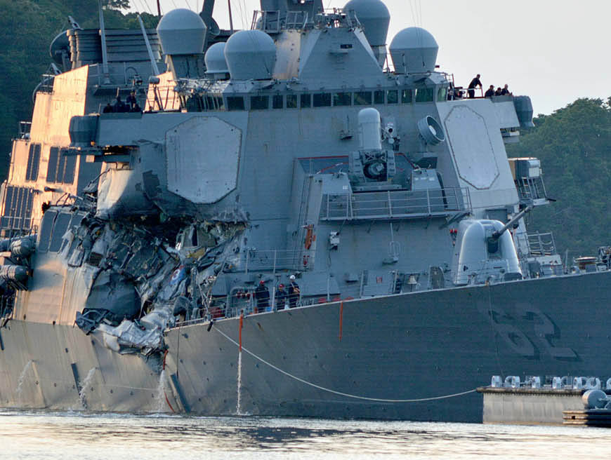 Navy's Pacific fleet disaster response questioned