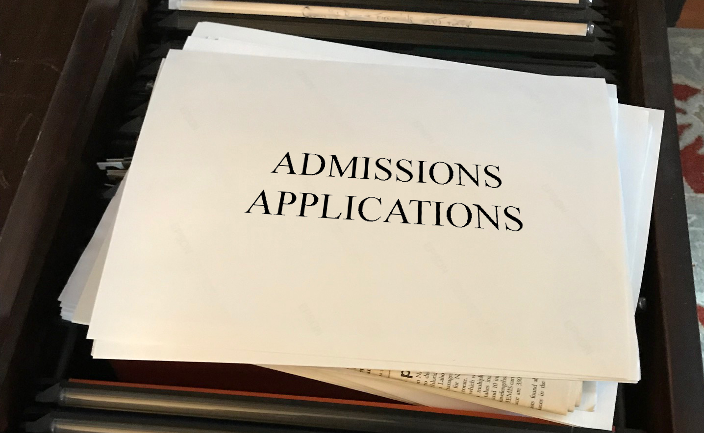 The college admissions process — who's at the helm?