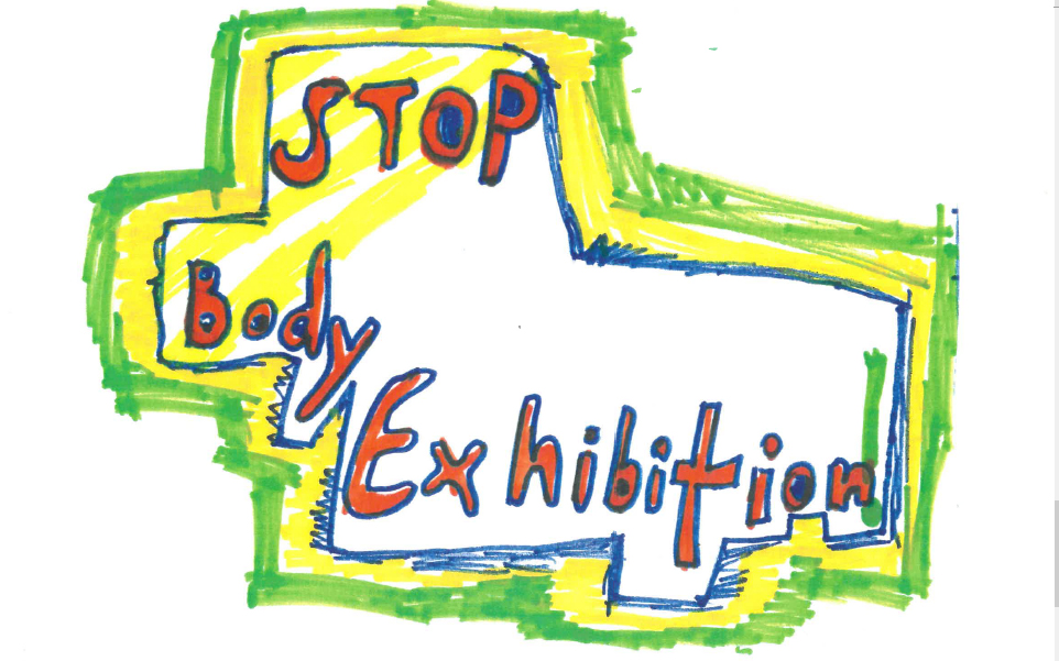 Seven-year-old (and her dad): Stop the body exhibition