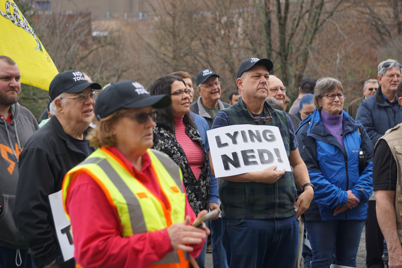 At Capitol rally, tolls fuel talk shows
