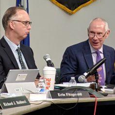 Board of Regents for Higher Education, Matt Fleury, chairman, Mark Ojakian, president of CSCU, and Merle Harris, board membrer