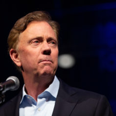 Gov. Ned Lamont speaking Wednesday at a tourism conference at the Connecticut Convention Center.