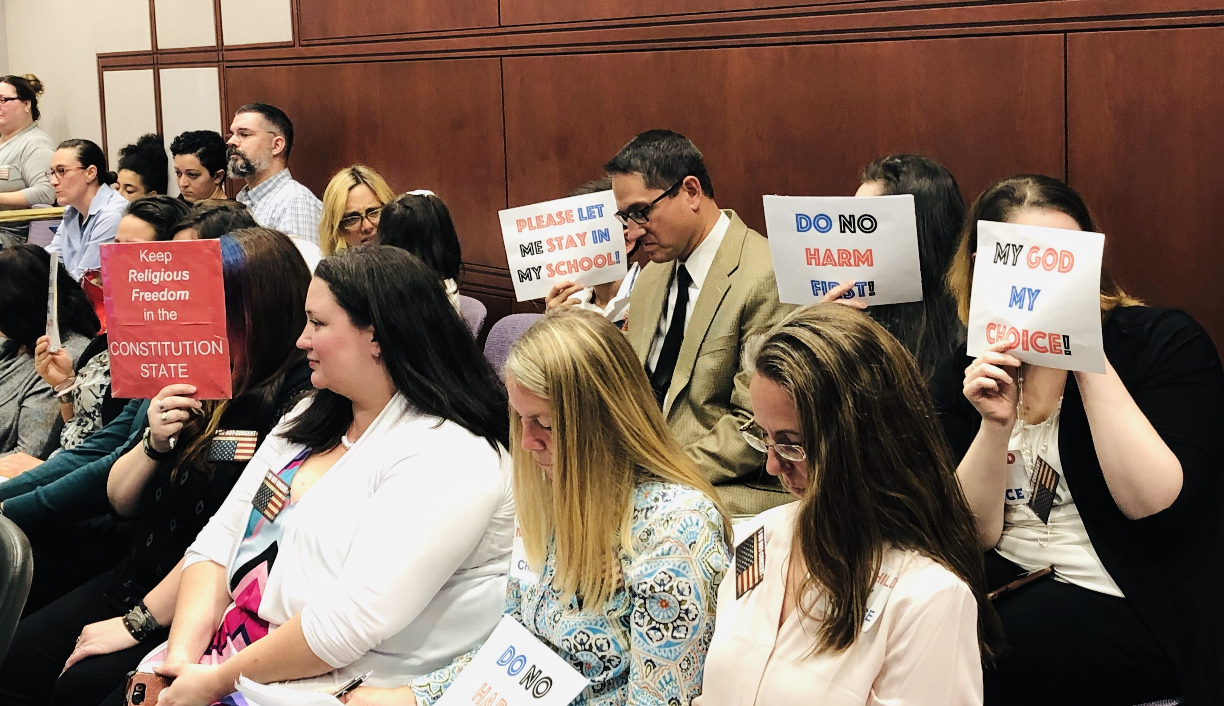 Dozens of vaccine skeptics testify against removal of religious exemption