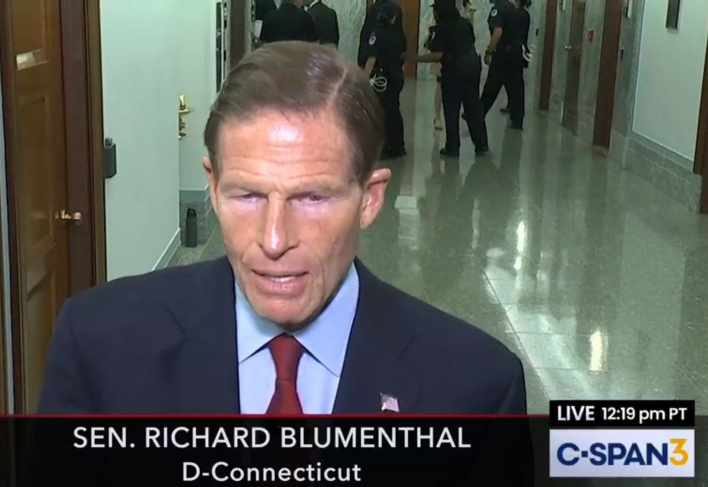 Blumenthal presses Barr to recuse himself from investigations into White House