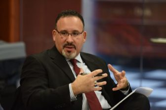 Miguel Cardona, assistant superintendent, is expected to be recommended soon as the state's new education commissioner.