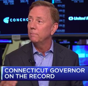 Lamont tells a Connecticut 'turnaround' story to Wall Street