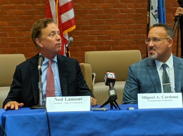 Lamont, Cardona talk about education priorities from minority teacher recruitment to coding