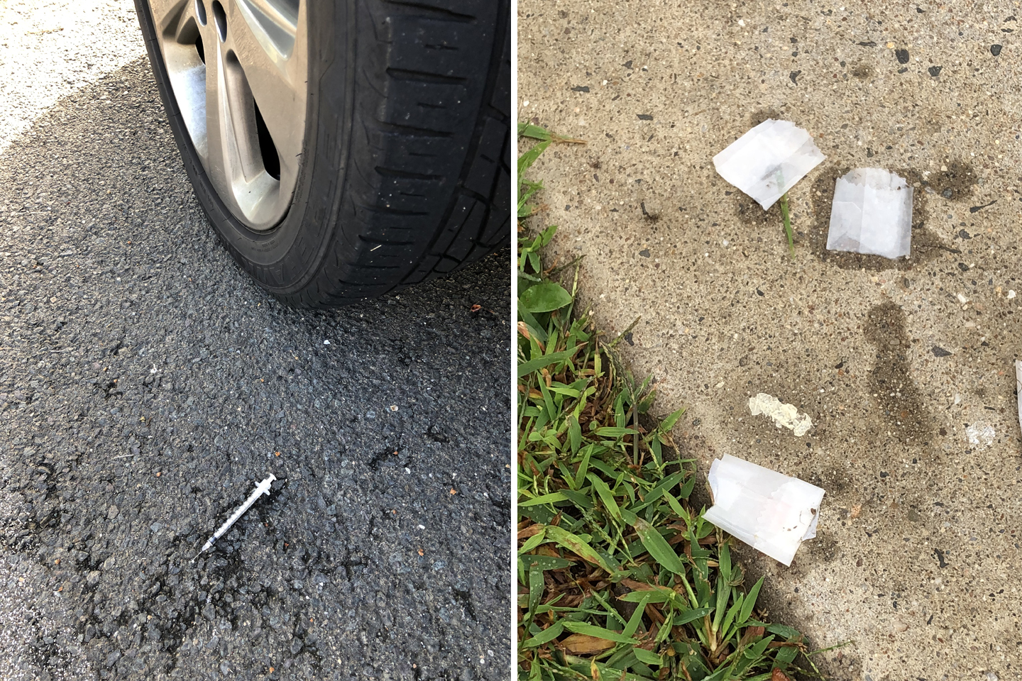Should a discarded syringe also be the last straw?
