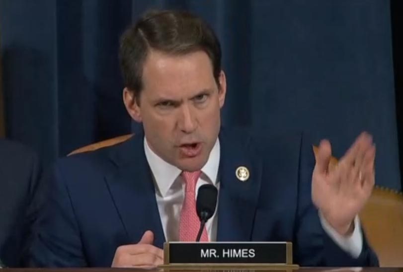 Himes: Trump used worse than 'mob boss' language to attack Yovanovitch