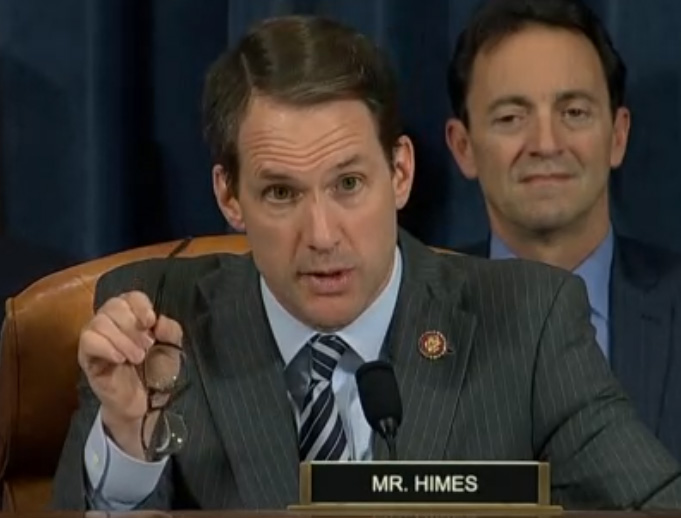 Himes slams GOP behavior at Trump impeachment hearing