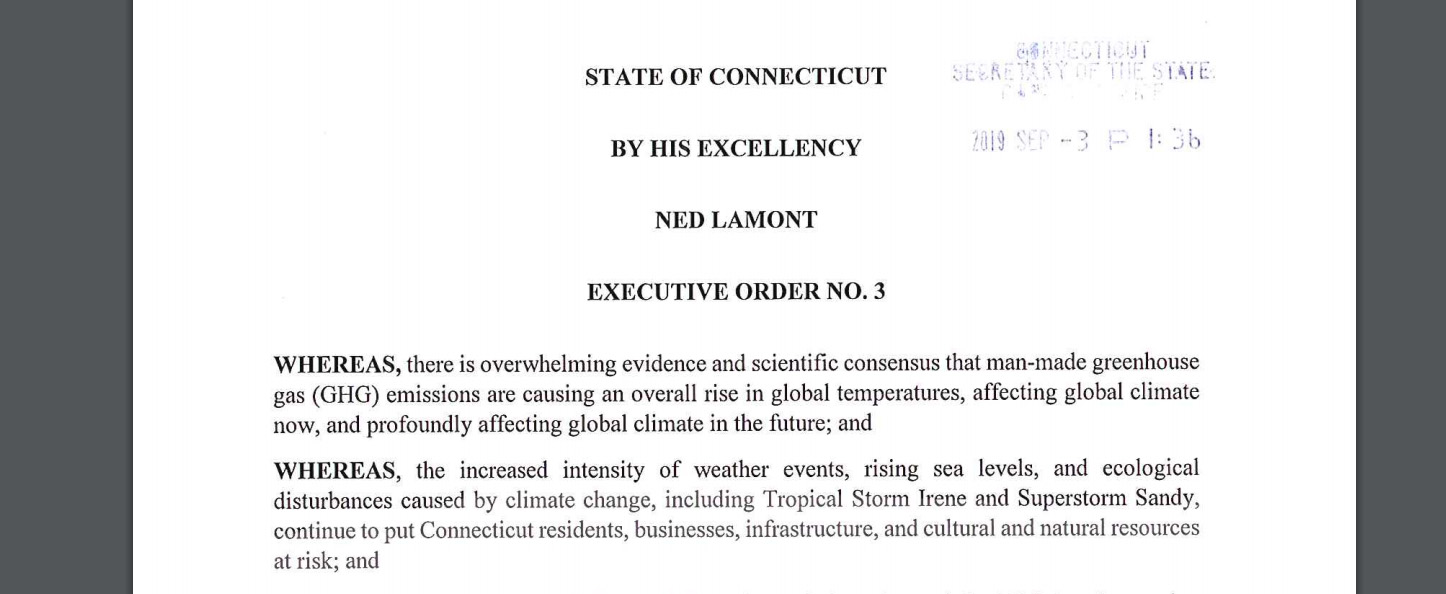 Lamont's Executive Order 3 on climate change is too little, too late