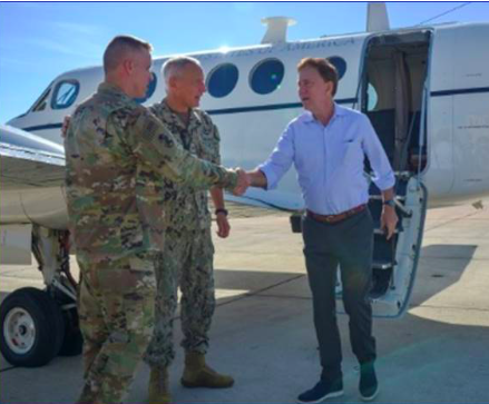 Lamont visits Connecticut Guard unit at Guantanamo