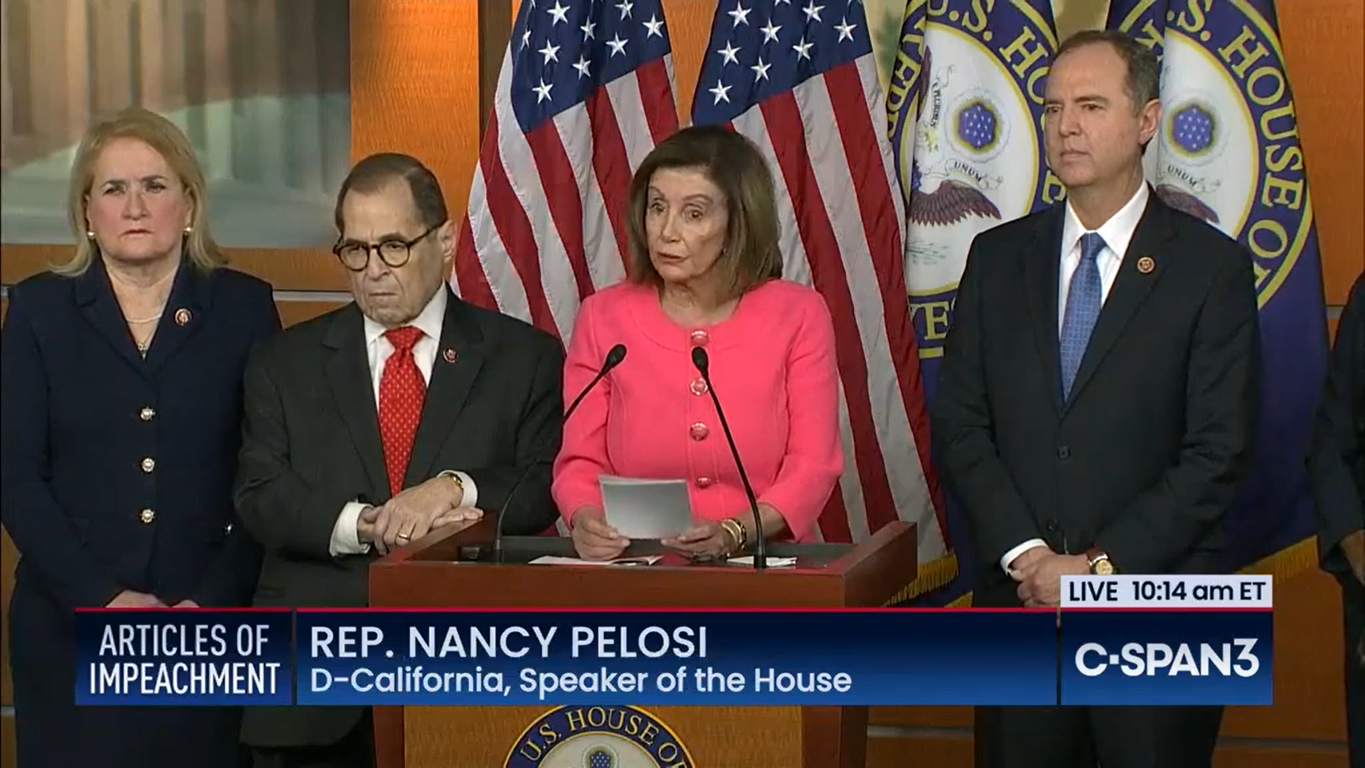 House Speaker Nancy Pelosi names impeachment managers