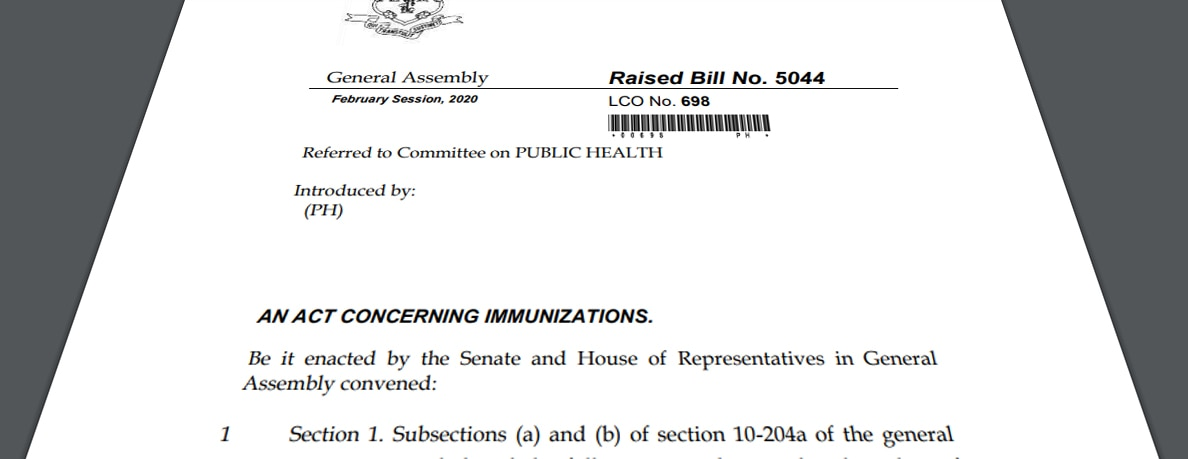 Why I oppose HB-5044 (An Act Concerning Immunizations)