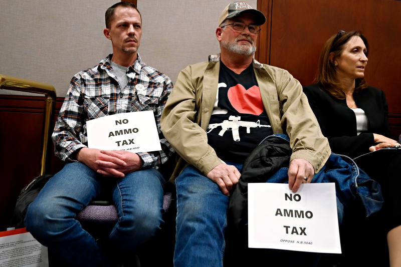 Gun owners protest ammunition tax proposal