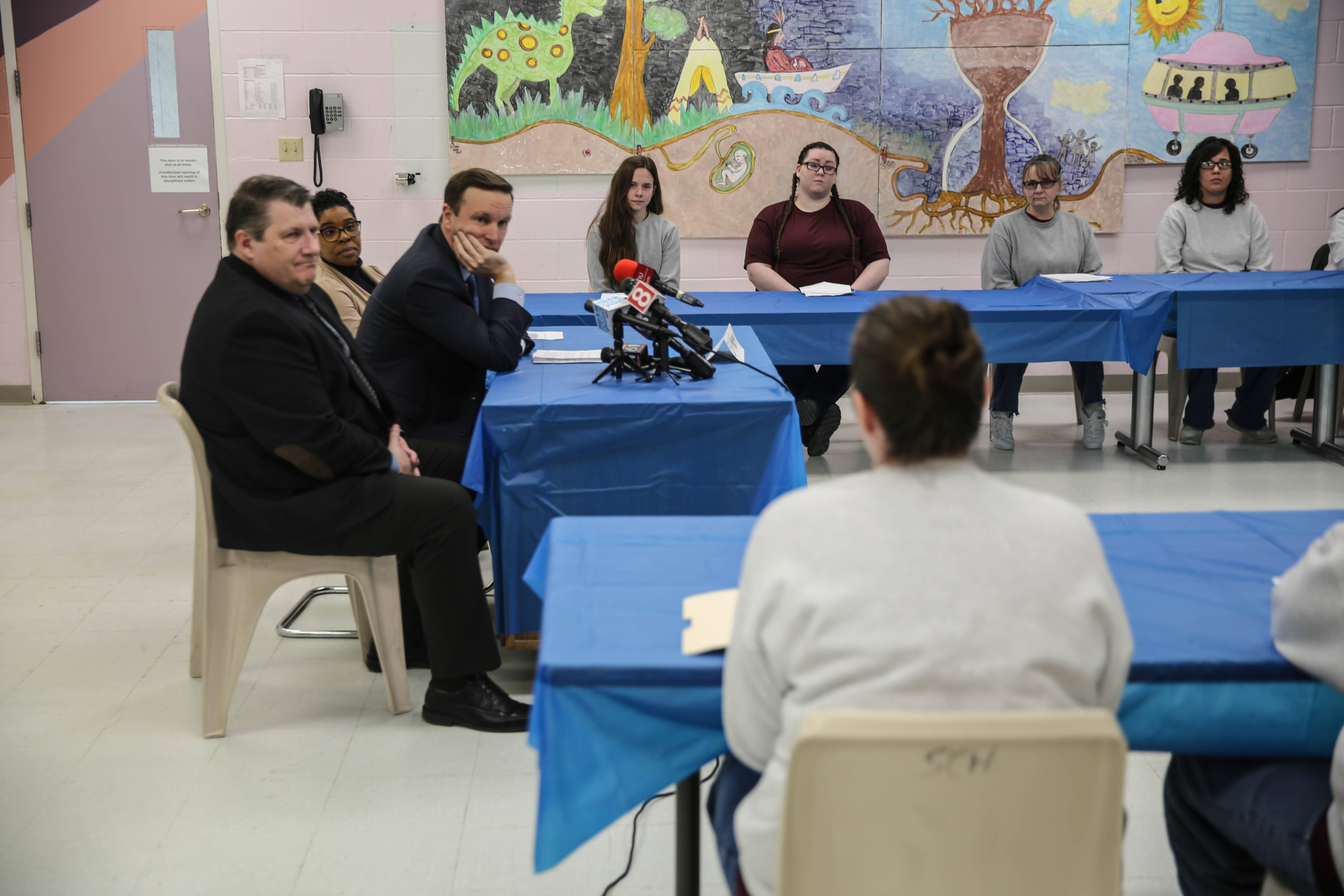 Female inmates tell Murphy education is a line to outside world