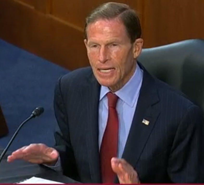Blumenthal joins Dems in portraying Barrett as a threat to Affordable Care Act