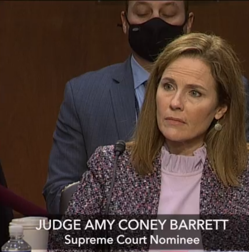 Barrett dodges Blumenthal on birth control, gay marriage and climate change