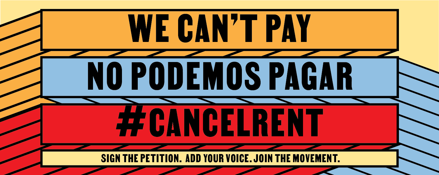 To prevent an eviction and homelessness crisis we must cancel rent