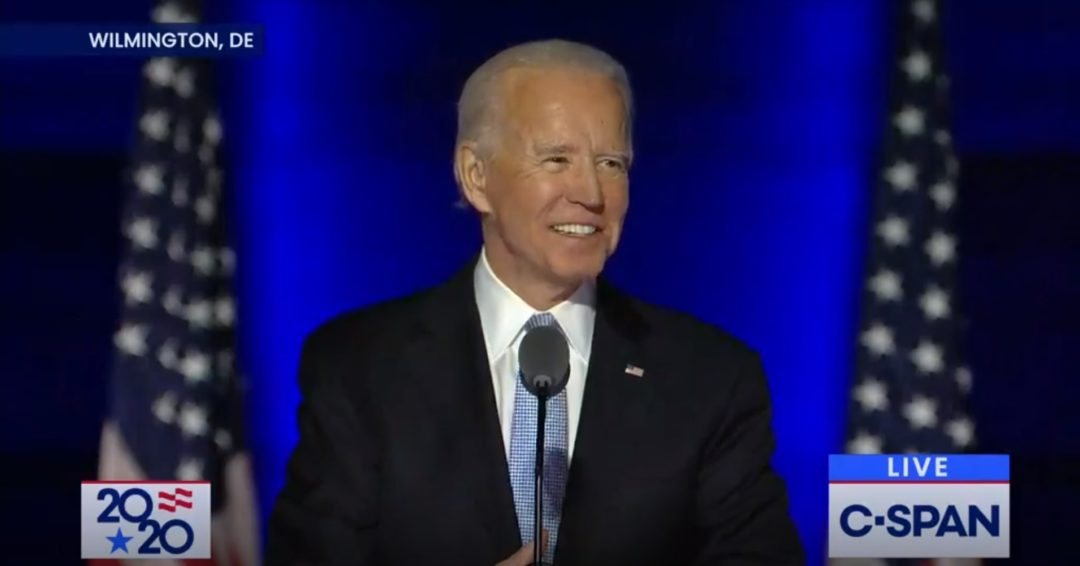 Victorious Joe Biden: 'We must restore the soul of America'