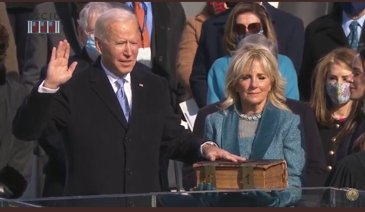 Joe Biden takes office: 'At this hour, my friends, democracy has prevailed.'