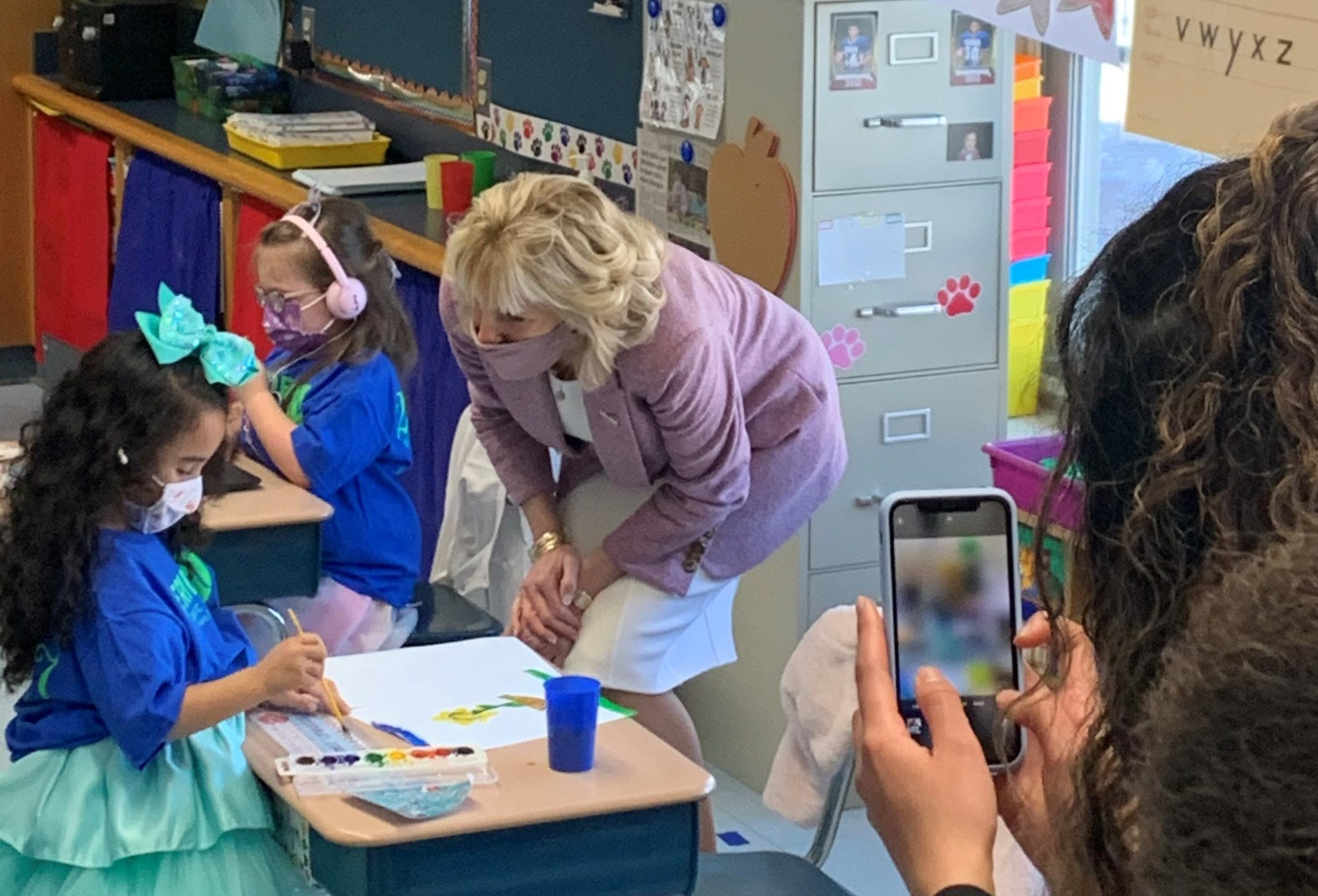 As the push to reopen schools intensifies, Miguel Cardona and first lady Jill Biden travel to Meriden to show how this town did it