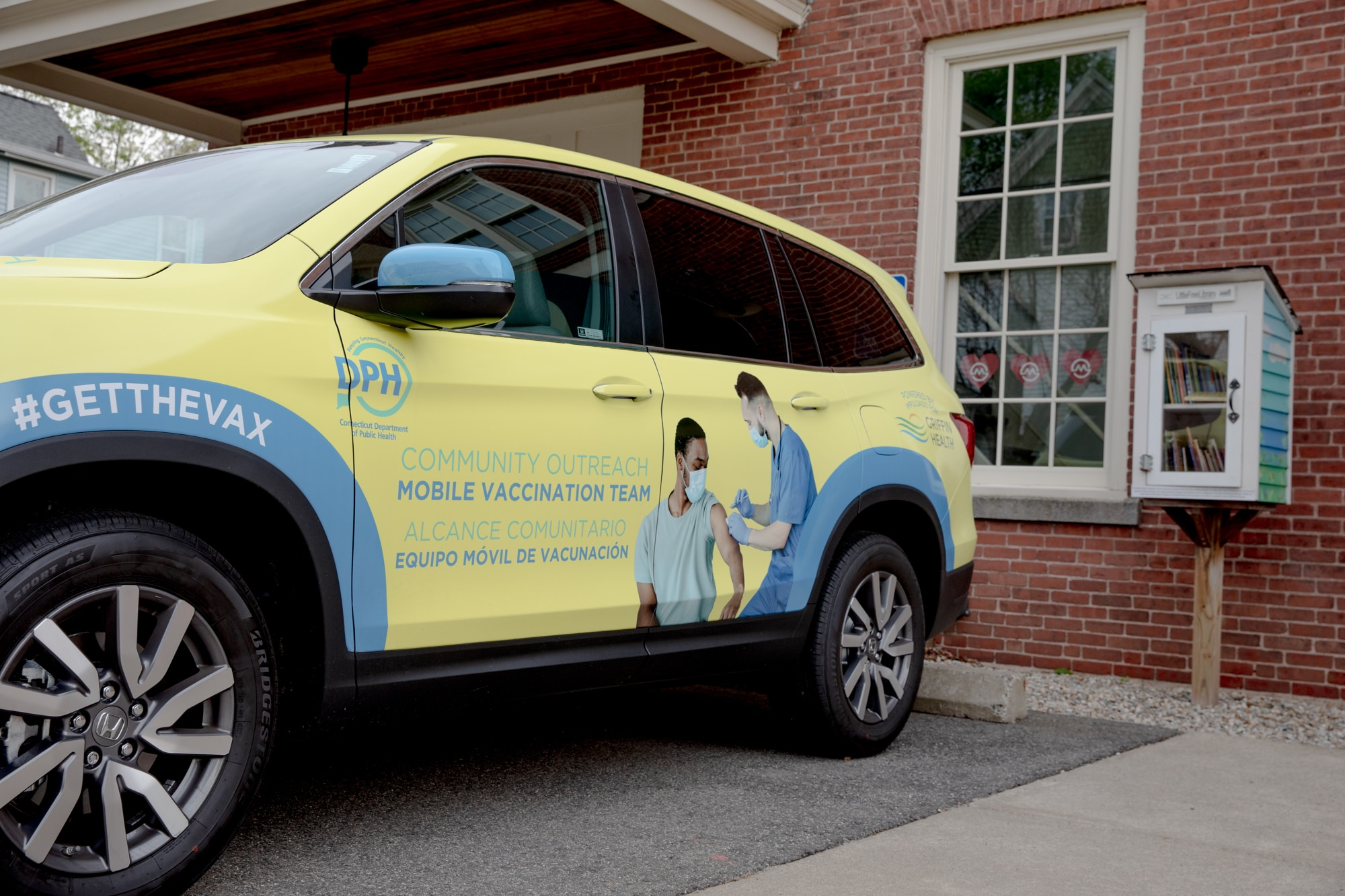 CT's 'yellow van' vaccination clinics are giving half as many doses as a month ago