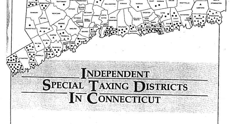 Special taxing districts: Connecticut's foregone municipal opportunities
