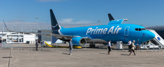 In admiration of Amazon's logistics network